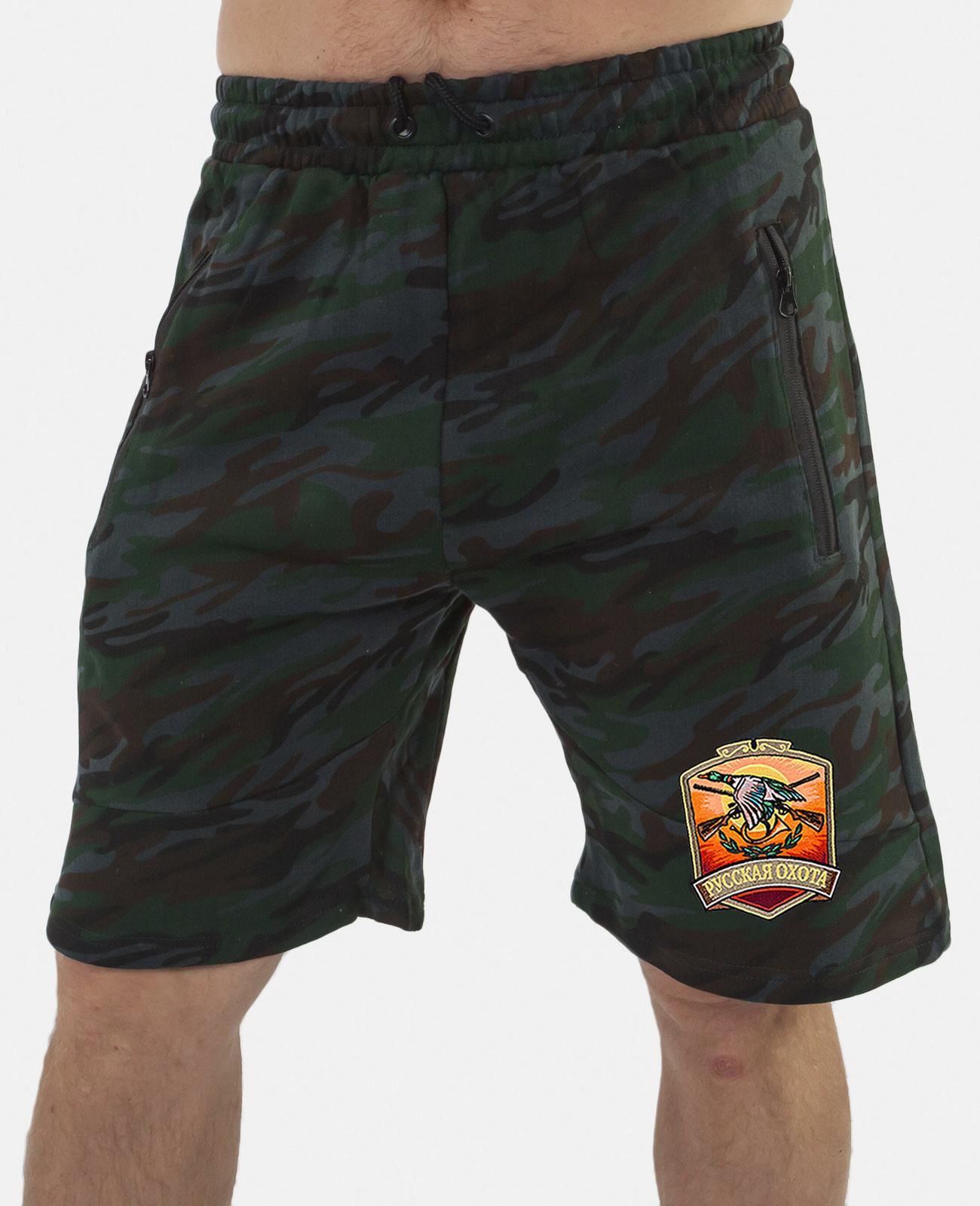 Купить мужские зачетные шорты с нашивкой Русская Охота в подарок любимому