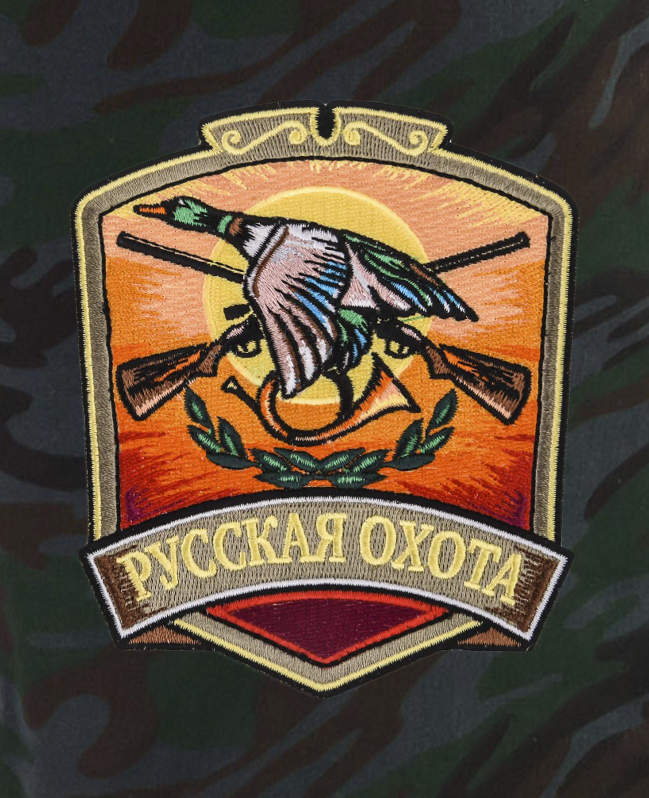 Мужские зачетные шорты с нашивкой Русская Охота