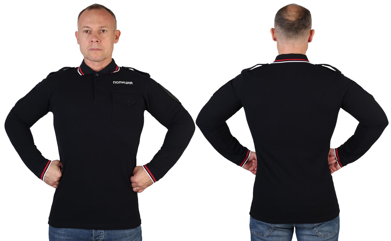 Мужские полицейские футболки с длинным рукавом
