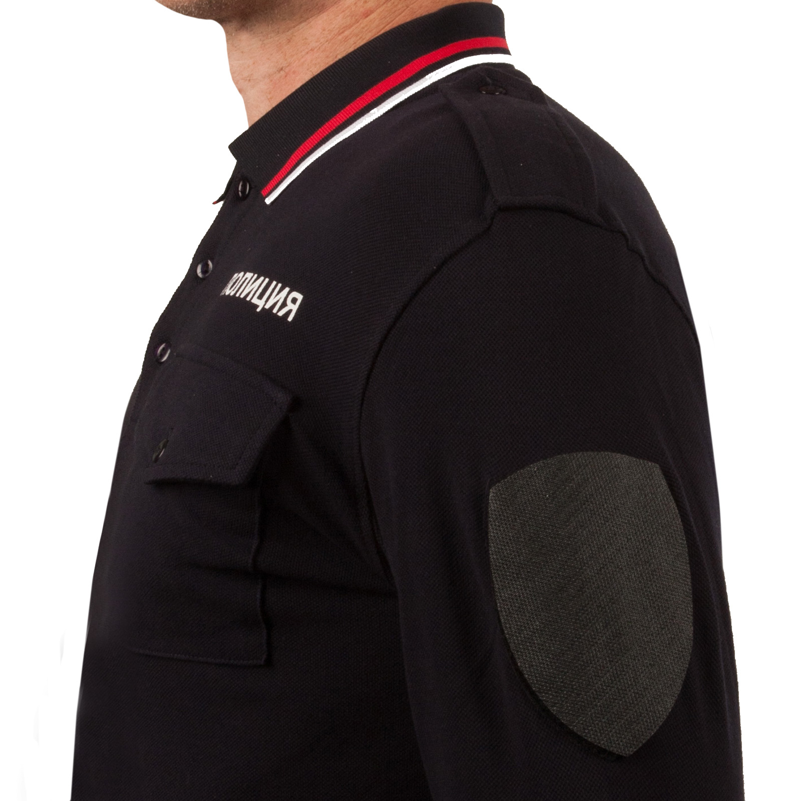 """Мужское поло """"Полиция"""" с длинным рукавом - в розницу и оптом"""