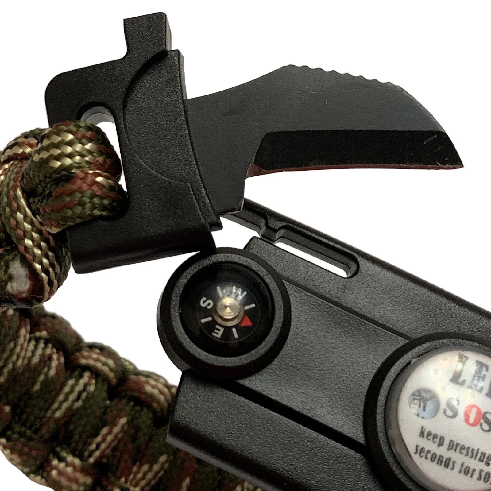 Мужской браслет выживания из паракордового шнура