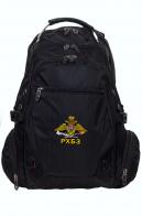 Мужской черный рюкзак для города с нашивкой РХБЗ