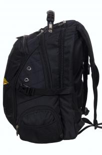 Заказать мужской черный рюкзак для города с нашивкой РХБЗ