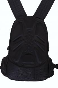 Мужской черный рюкзак для города с нашивкой РХБЗ купить выгодно
