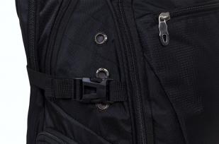 Мужской черный рюкзак для города с нашивкой РХБЗ купить по сбалансированной цене