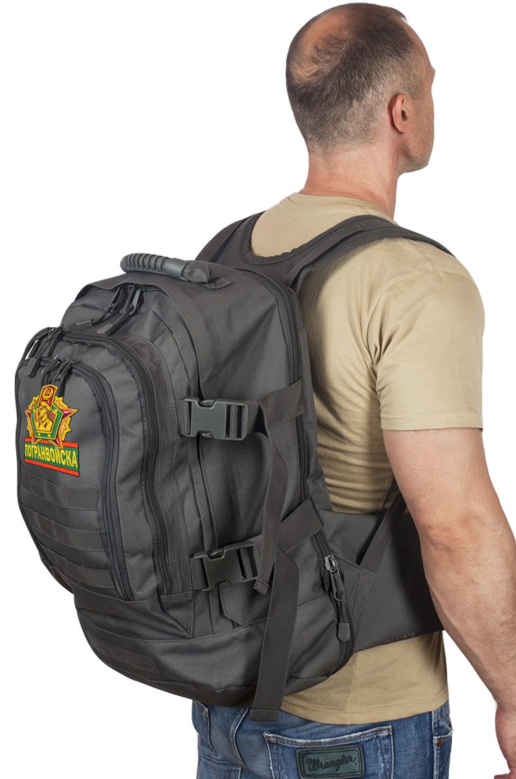 Мужской черный рюкзак Погранвойск - купить с доставкой