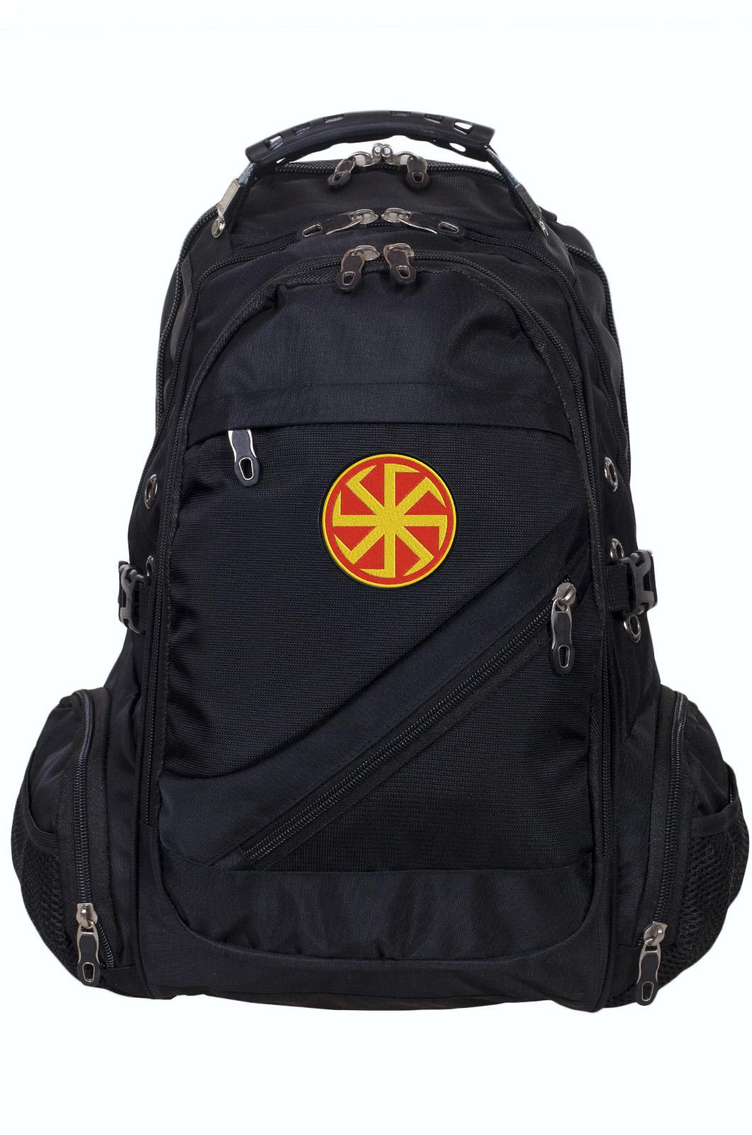 Мужской черный рюкзак с нашивкой Коловрат