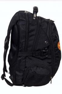 Заказать мужской черный рюкзак с нашивкой Коловрат
