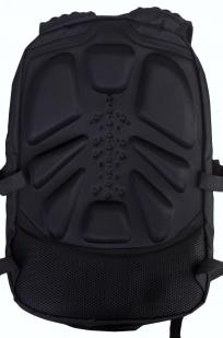 Мужской черный рюкзак с нашивкой Коловрат купить оптом