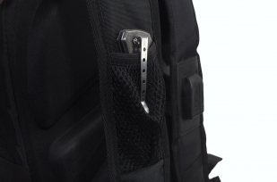 Мужской черный рюкзак с нашивкой Коловрат купить с доставкой