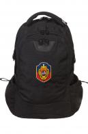 Мужской черный рюкзак с нашивкой УГРО