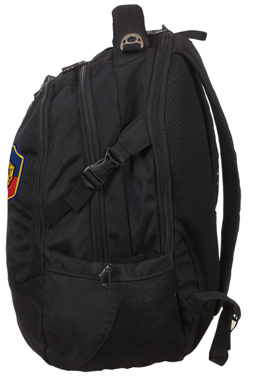 Мужской черный рюкзак с нашивкой УГРО - купить с доставкой