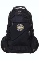 Мужской черный рюкзак с шевроном ВВС