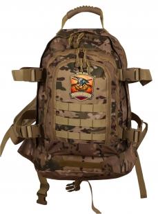 Мужской камуфляжный рюкзак с нашивкой Русская Охота - купить оптом
