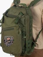 Мужской особенный рюкзак с нашивкой Рыболовный Спецназ