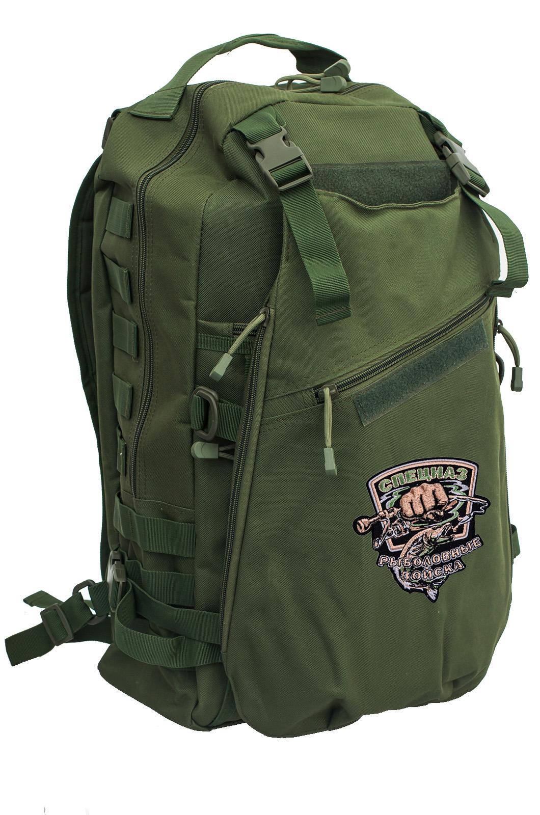 Мужской особенный рюкзак с нашивкой Рыболовный Спецназ - купить в Военпро