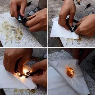 Мужской плетёный браслет с огнивом
