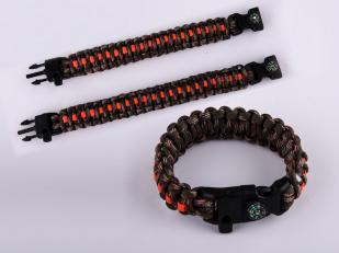 Мужской плетёный браслет двух размеров