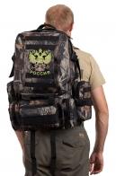 Мужской практичный рюкзак с нашивкой Герб России