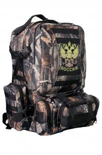 Мужской практичный рюкзак с нашивкой Герб России - купить онлайн