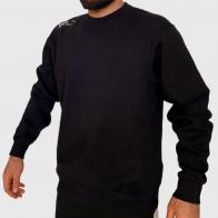 Черный мужской реглан толстовка