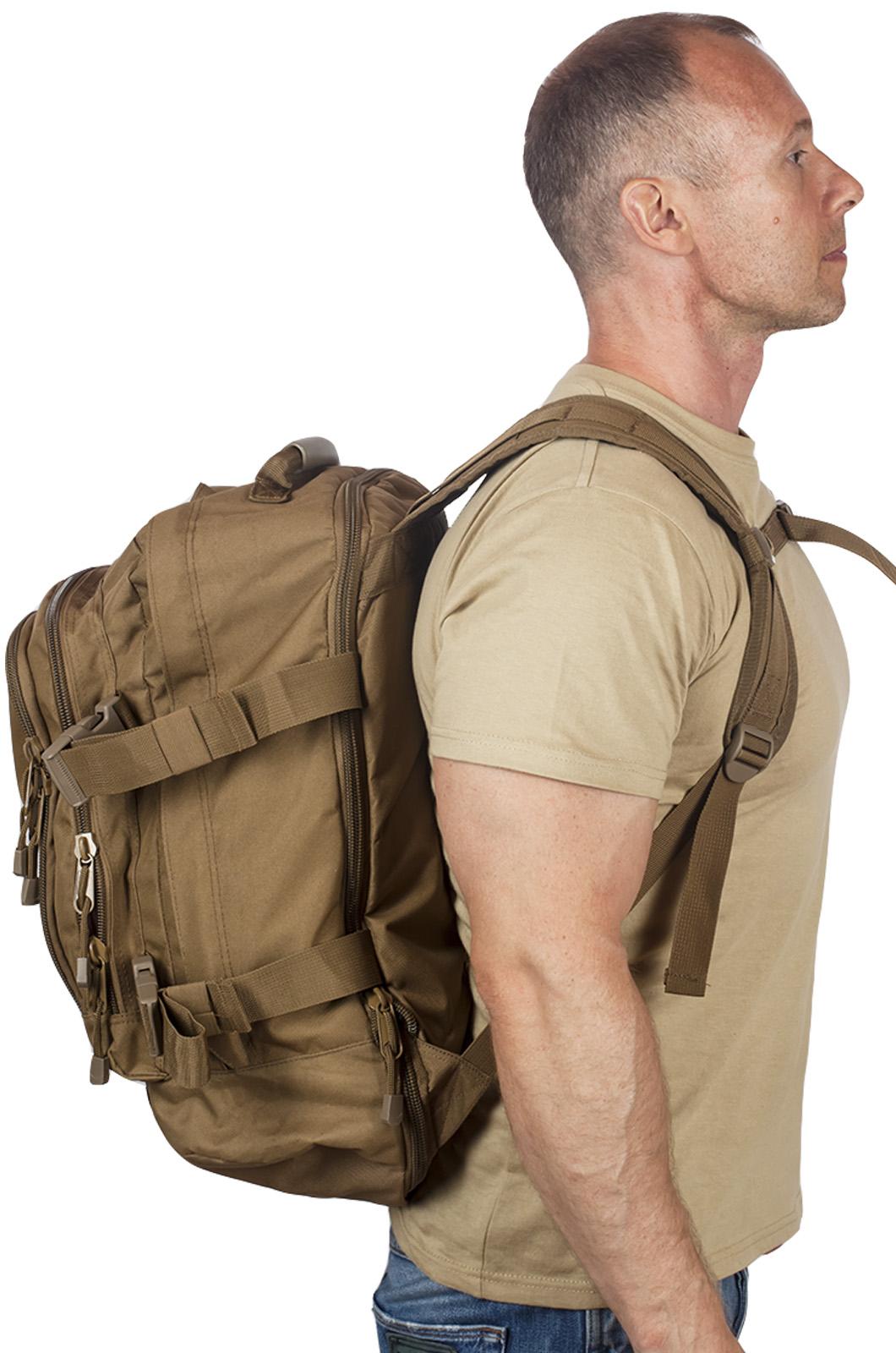 Мужской рюкзак для охотника с нашивкой Ни Пуха ни Пера - купить с доставкой
