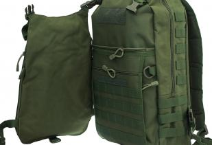 Мужской вместительный рюкзак с нашивкой Ни Пуха ни Пера - заказать онлайн