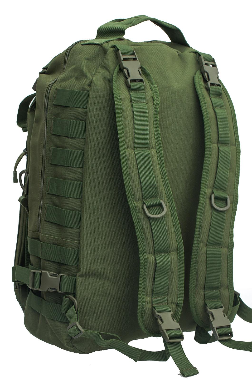 Мужской вместительный рюкзак с нашивкой Ни Пуха ни Пера - заказать в подарок