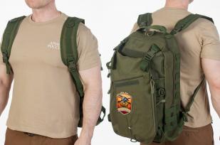 Мужской внушительный рюкзак с нашивкой Русская Охота - купить в розницу