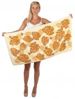 Мягкое махровое полотенце с рисунком