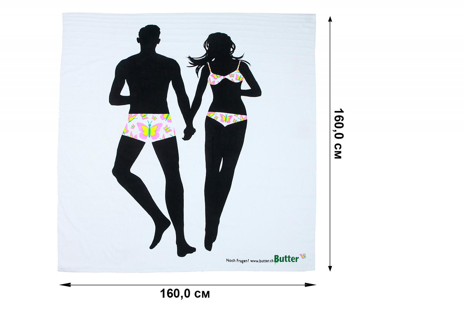 Мягкое махровое полотенце – по-настоящему большой формат для двоих.