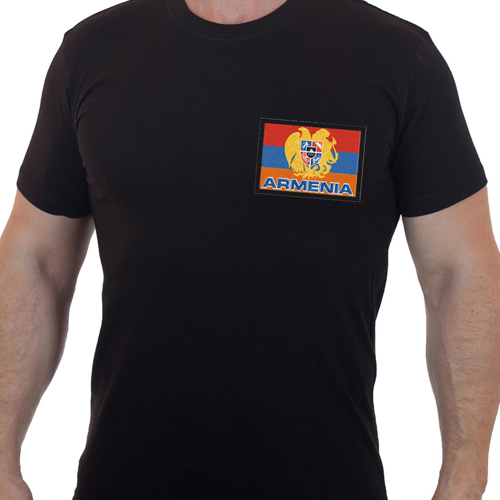 Мужская футболка с вышивкой АРМЕНИЯ