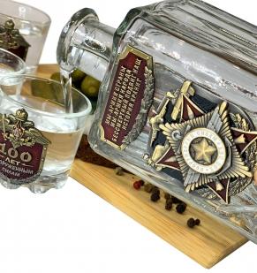 Подарочный водочный набор 100 лет Вооруженным силам