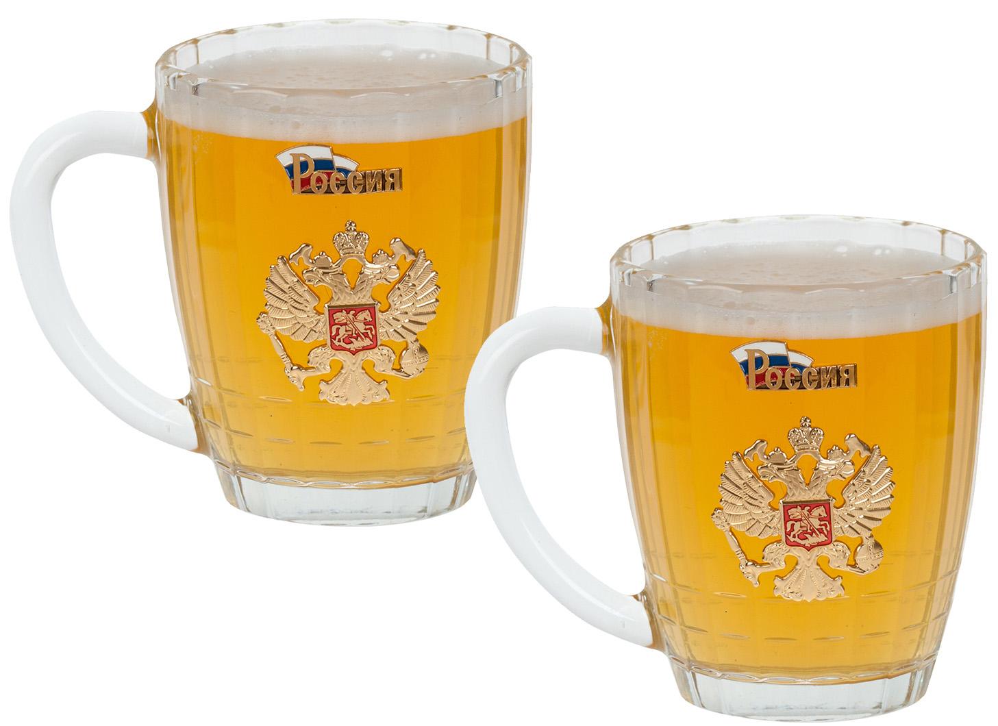 """Набор 2 кружки для пива """"Россия"""" - купить недорого в интернет-магазине"""