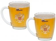 """Набор 2 кружки для пива """"Россия"""""""