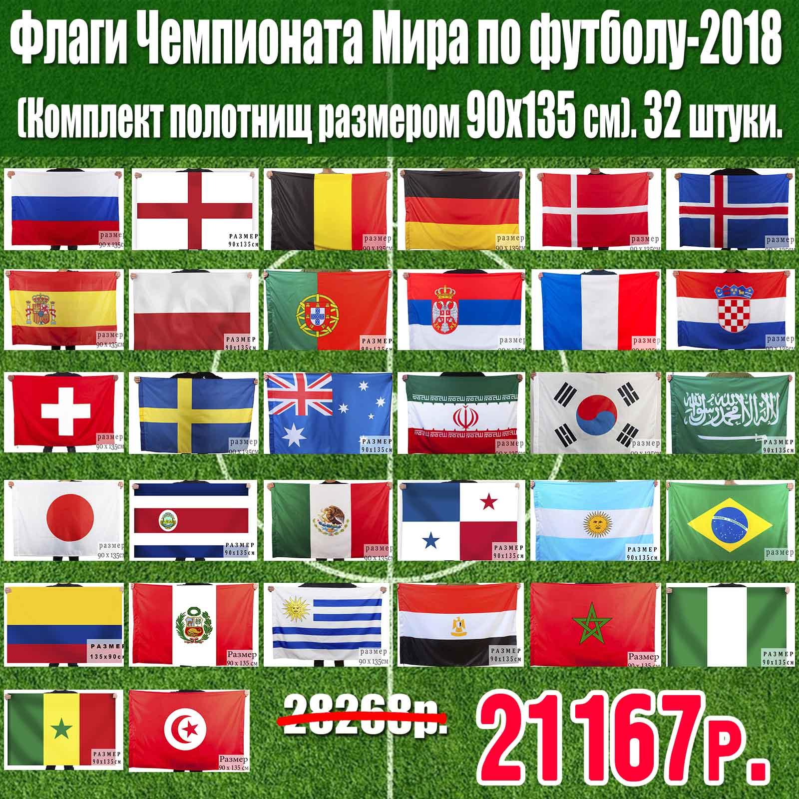 Флаги Чемпионата Мира по футболу-2018.