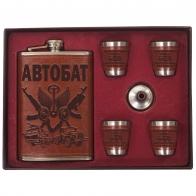 Набор Автобат – фляжка для алкоголя, стопки, воронка