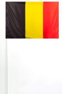 Флажок Бельгии на палочк 15х23 см