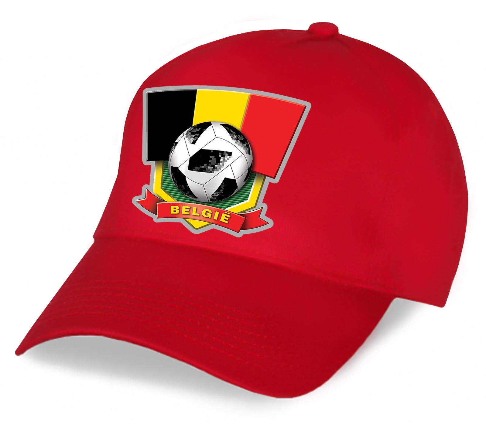 Красная фанатская бейсболка сборной Бельгии