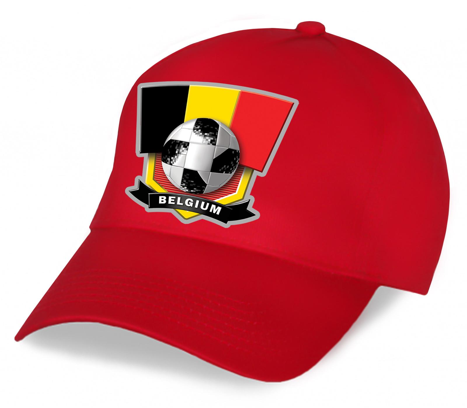 Зачетная красная бейсболка Belgium