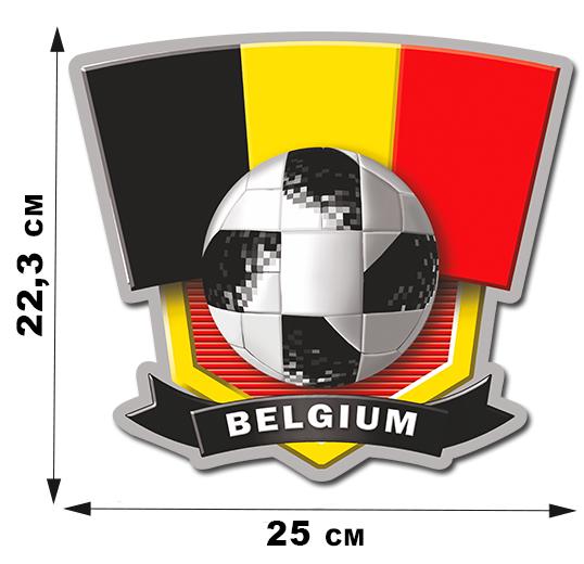 Футбольная наклейка фанатам сборной Belgium