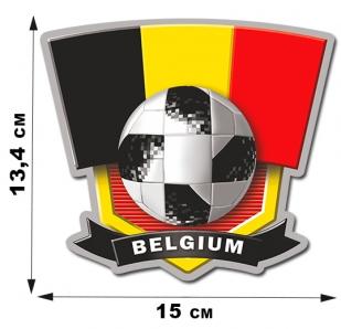 Автонаклейка сборной Бельгии