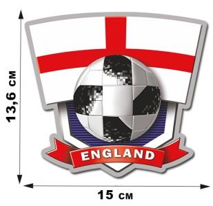 Фанатская наклейка сборной Англии (15х13,6см)
