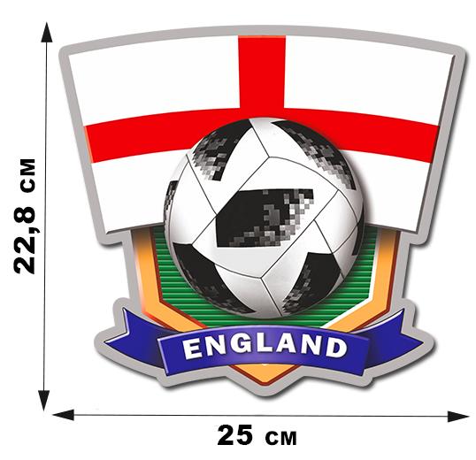 Фанатская виниловая наклейка England (22,7x25см)