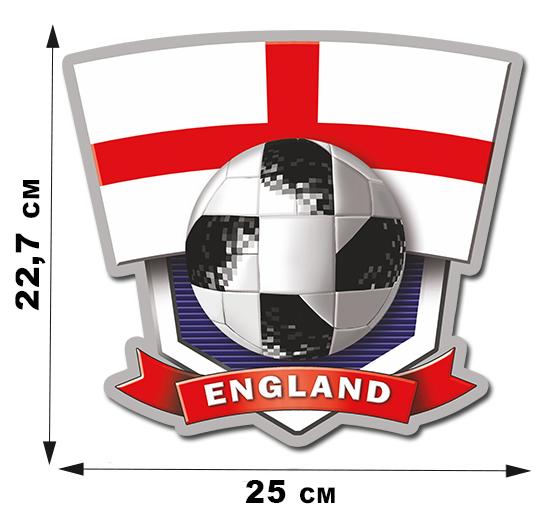 Виниловая наклейка фанату England (22,8x25 см)