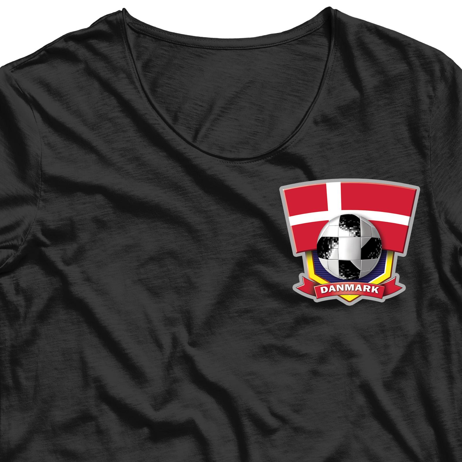 Термотрансфер на футболку Дания (6,7х7,5 см)