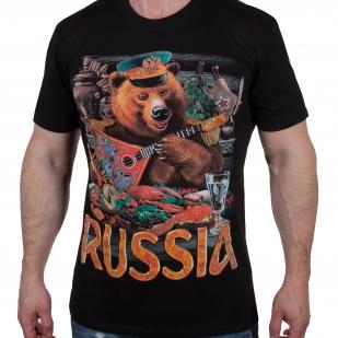 Футболка с русским медведем (размеры с 46 (XS) по 56 (2XL))