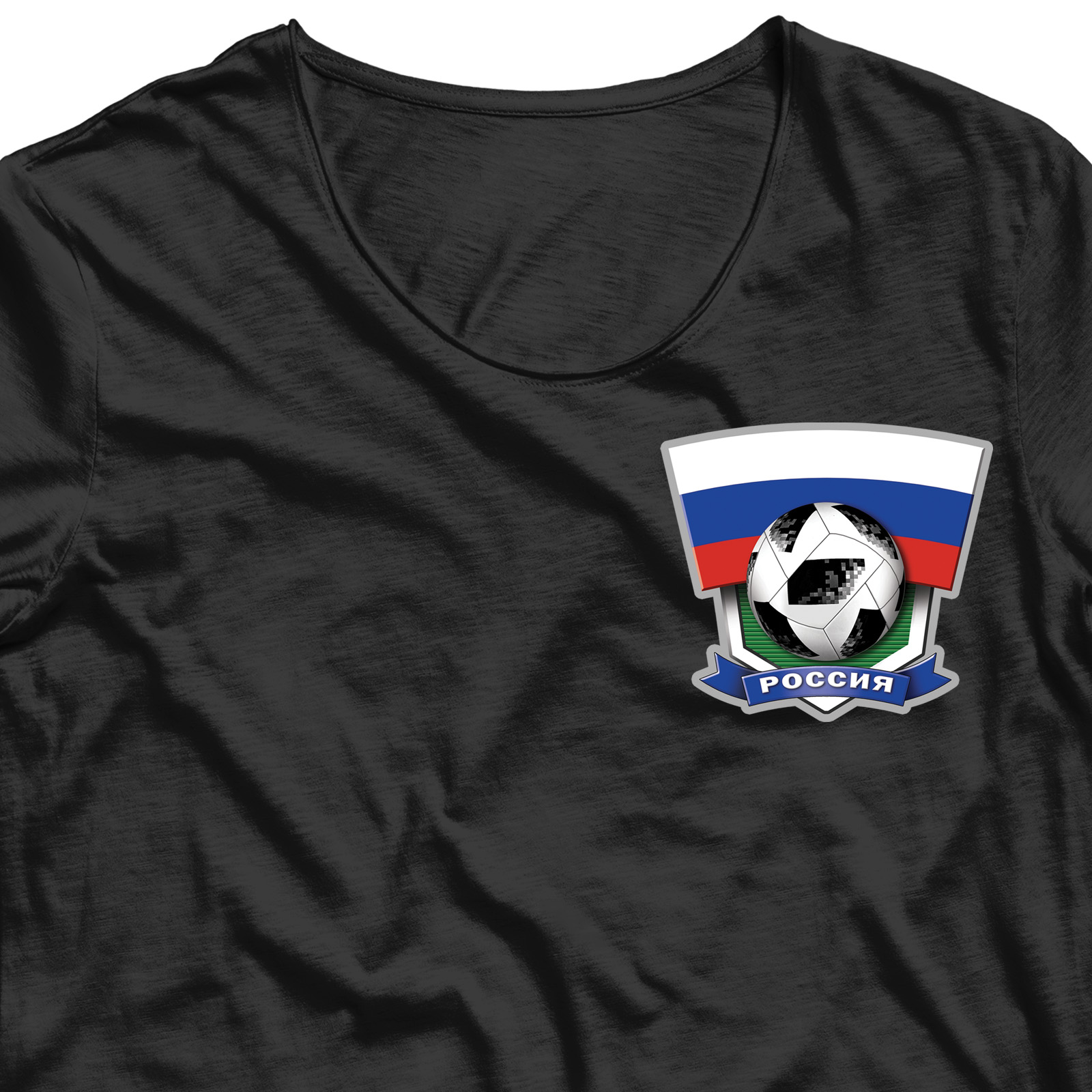 Термотрансфер на футболку Россия (6,7 х 7,5)