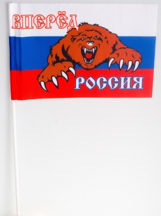Фанатский флажок «Россия вперёд» на палочке