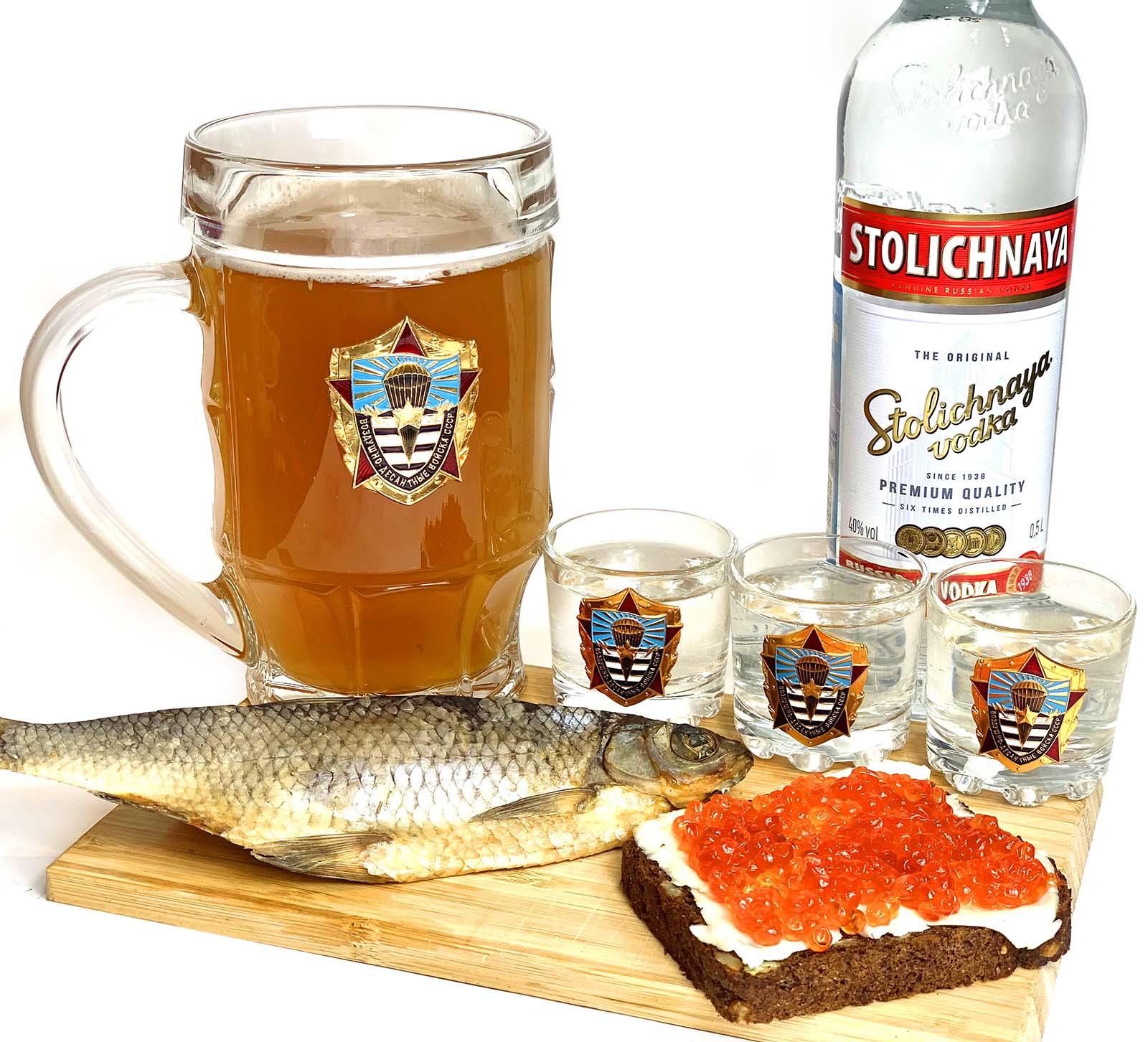 Подарочный набор для крепких напитков ВДВ СССР